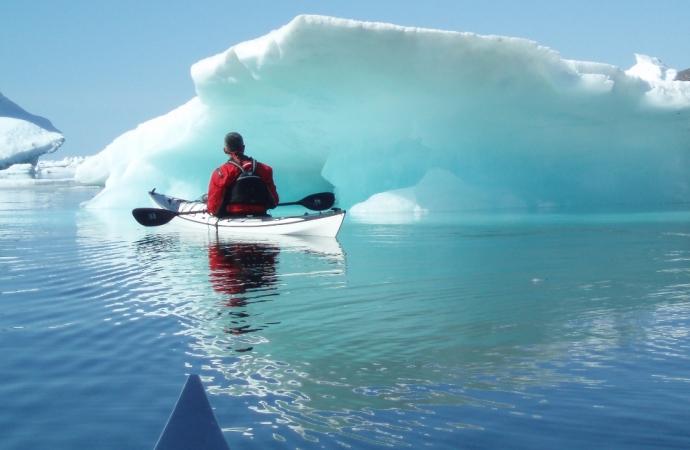 kayak et canoë au Groenland